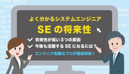 【SEは将来性なし】3つの原因と今後プログラマーとして活躍し続けるためのポイント3つを紹介